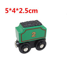 EDWONE wooden magnetic train for Tmas wooden tracks can be connected to the Tmas train variety wooden train E2 coal carriage(China)