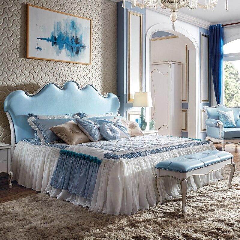 European Style Bed, American Style Double Bed, Bedroom Furniture, 1.8 Meter Highstorage Bed, Princess Bed enhanced version of european style metal bed iron bed double bed pastoral style student bed 1 5 meters 1 8 meters