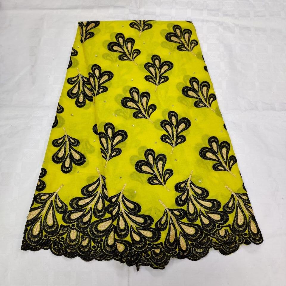 Tejido de encaje suizo en Suiza con Encaje amarillo para mujeres africanas telas de encaje nigerianas 100% algodón dubai tejido de 5 yardas /lote-in encaje from Hogar y Mascotas    1
