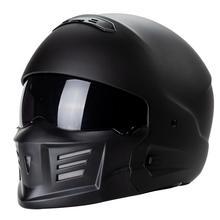Black Lightweight Motorcycle Helmet Fashion Goggle Design Racing Motorbike Helmets Full Face Protective Moto cascos para moto