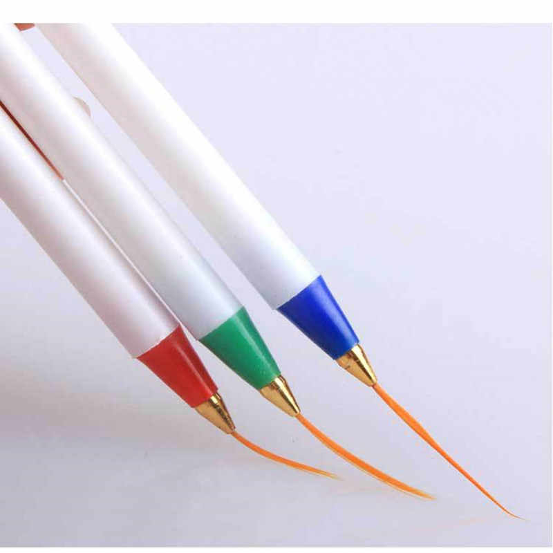Y-XLWN Foreign trade pen nail art 3 plastic cable pen painting pens super fine writing brush