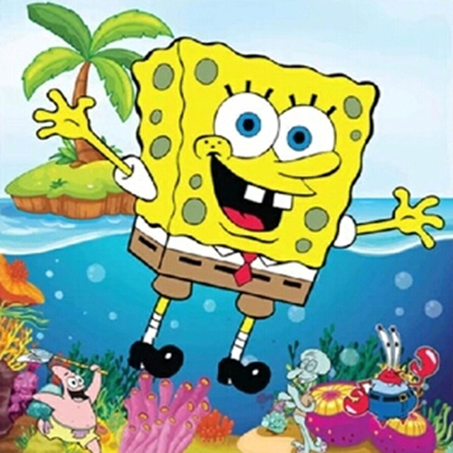 Spongebob Pictures Diamond Embroidery D Diy Diamond Painting Mosaic Cartoon Child Room Decoration Rhinestone Resin Crafts