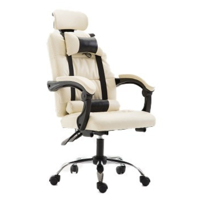 High Quality Gaming Live Boss Silla Gamer Office Chair With Footrest Pillow Wheel Office Furniture Poltrona Synthetic Leather