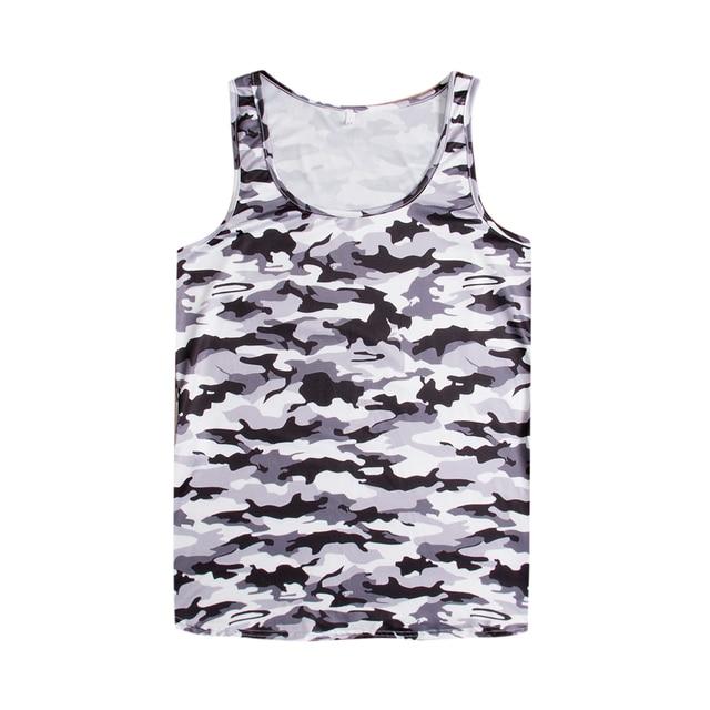 52d3c49d94513 Men Muscle Bodybuilding Sleeveless Shirt Camouflage Tank Top Singlet Slim  Vest Men's Shirts