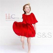 Summer Style Disfraces Infantiles Princesa Robe Princesse Enfant Red Disfraz Princesa Fashion Baby Girl Dresses