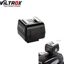 Viltrox FC 5P sapato quente sem fio óptico escravo flash gatilho adaptador de sincronização do pc soquete para canon nikon dslr