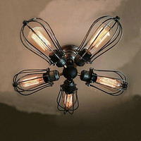 Edison Retro Vintage Ceiling Lights Fixtures Living Room Resturant Loft Industrial Ceiling Lamp Lampara LED Edison