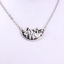 hzew adventure awaits mountain landscape pines pendant necklace mountain moon necklaces murray w key words 12b mountain adventure