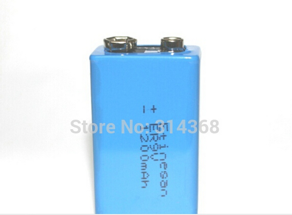 ETINESAN 1 pcs/lot 9V 1200mAh Lithium Battery for Smoke Alarms, Toys, Wireless Cameras, Mics ETC