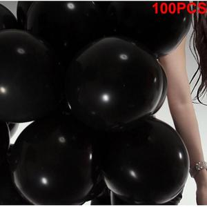 Image 5 - 100 Uds., negro, 1,5g, 10 pulgadas, grueso, perlado, brillo, fiesta de boda, cumpleaños, globos redondos