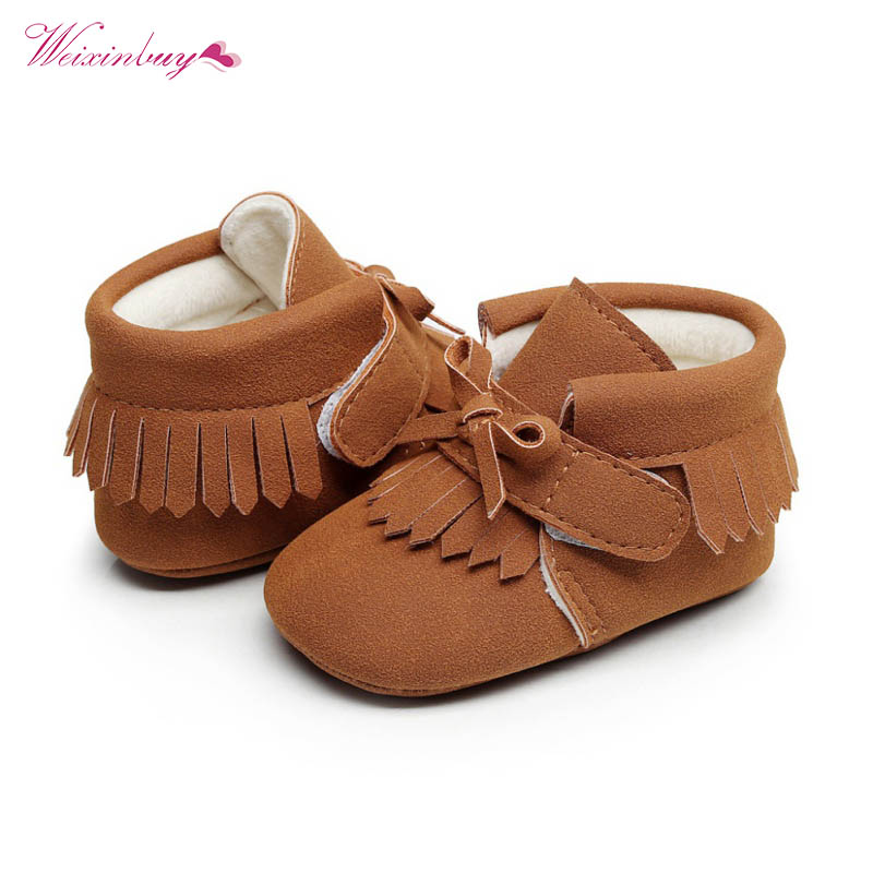 Baby Moccasins Shoes Soft Footwear For Girls Baby Kids Boys First Walker Cute Baby Girl Shoes