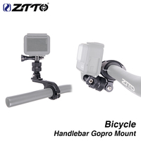 ZTTO 360 Bicycle Handlebar Rotatable Gopro Mount High Strength Cycling Camera Holder Adapter For Helmet Yi