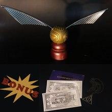 Золотистый мяч, игрушка для Снитча, школьный кинотеатр, украшение для вечерние, для фанатов, коллекция волшебников, косплей
