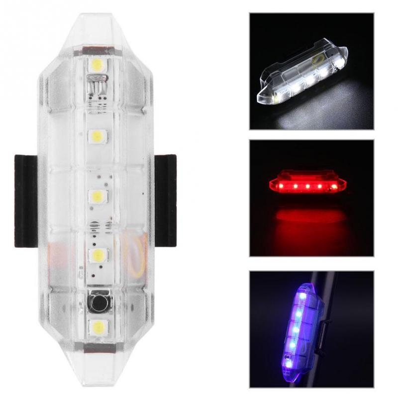 USB Rechargeable Bike LED Tail Light Bicycle Safe Cycling Warning Rear Lamp 4 Flash Mode Bike Rear Lights Cycling Equipment #918