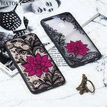 Xiaomi Mi A1 Case Cover TPU +PC Lace Rose Flower Phone Funda Bumper Capa