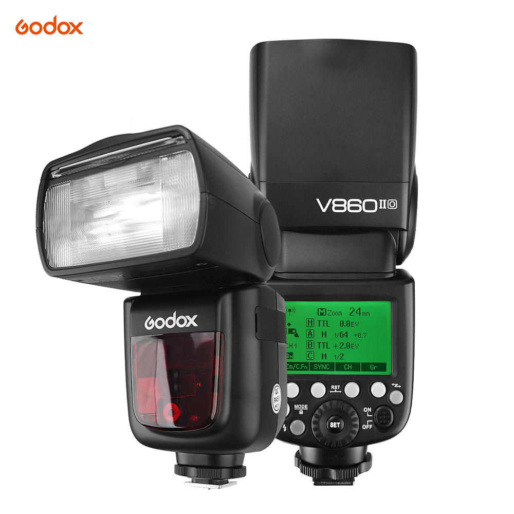 Godox VING V860IIO TTL Li ion Camera Flash Master Slave Flash Speedlite 2 4G Wireless for