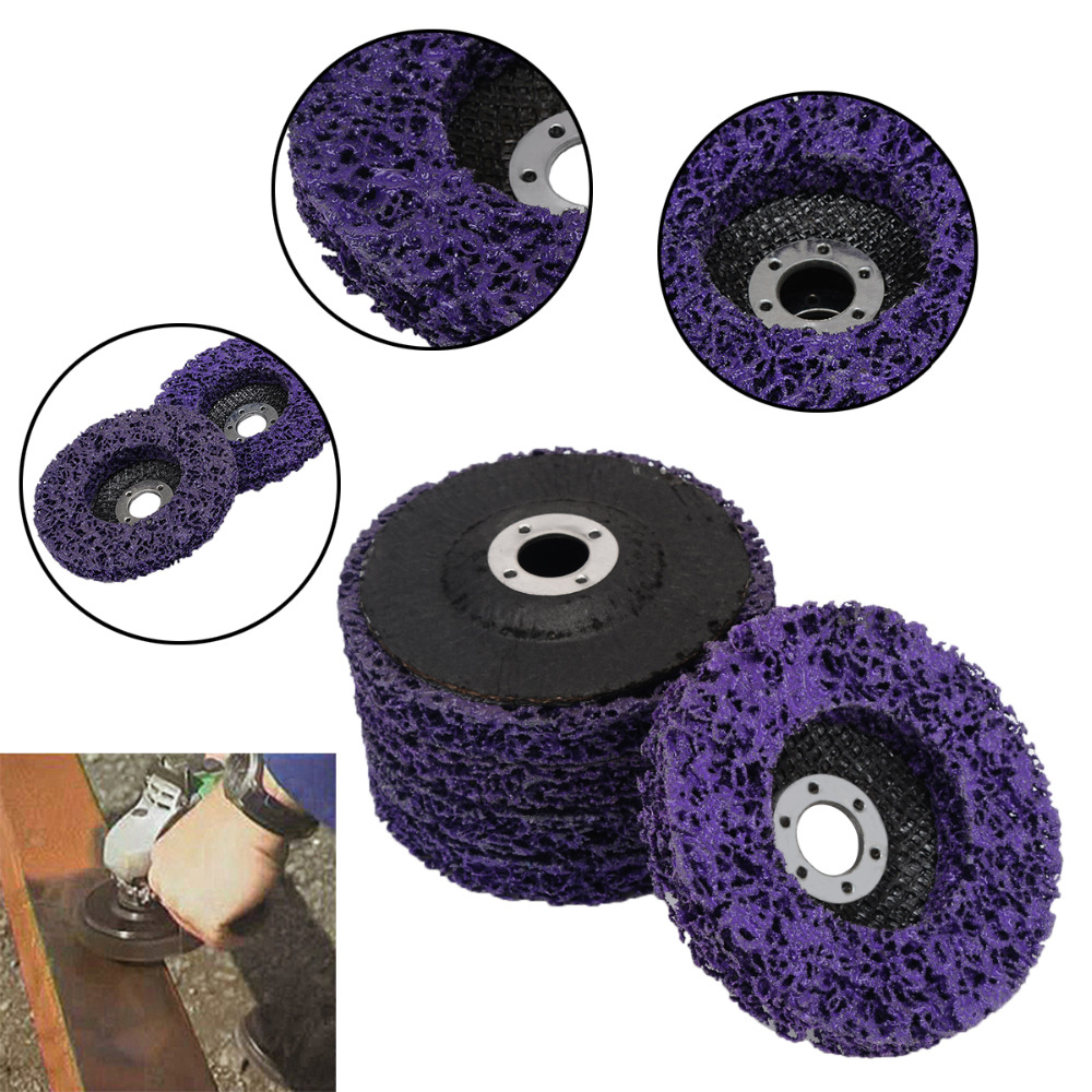 Join Ware 2Pcs 3 75mm Poly Disc Strip Wheel Paint Rust Remover Paint Stripping Wheel Grinding Tools with 6mm Shank
