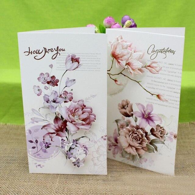 8 Pieceslotcreative Diy Birthday Cards Flower Greeting Cards