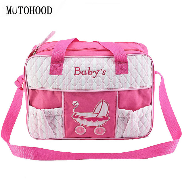 b99de5188a MOTOHOOD 17*30*41cm Women Diaper Bags Maternity Baby Bag Organizer  Multifunction Changing Nappy
