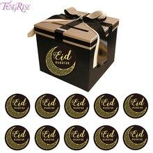 120/56/60PCS EID Mubarak Paper Stickers Islamic Muslim Decoration Lable Seal Gifts Ramadan Al Adha