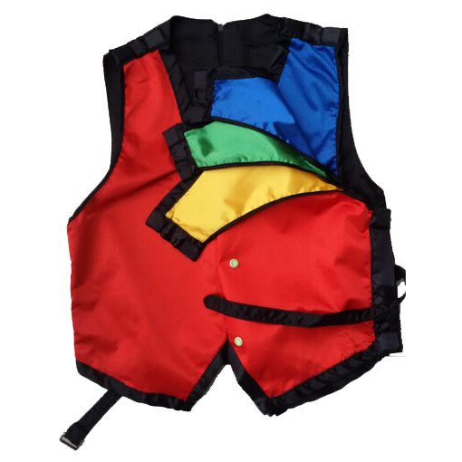 Color Changing Vest Four Color Changing Waistcoat Magic Trick Magician Trucos De Magia Stage Illusions Accessories Gimmick Props