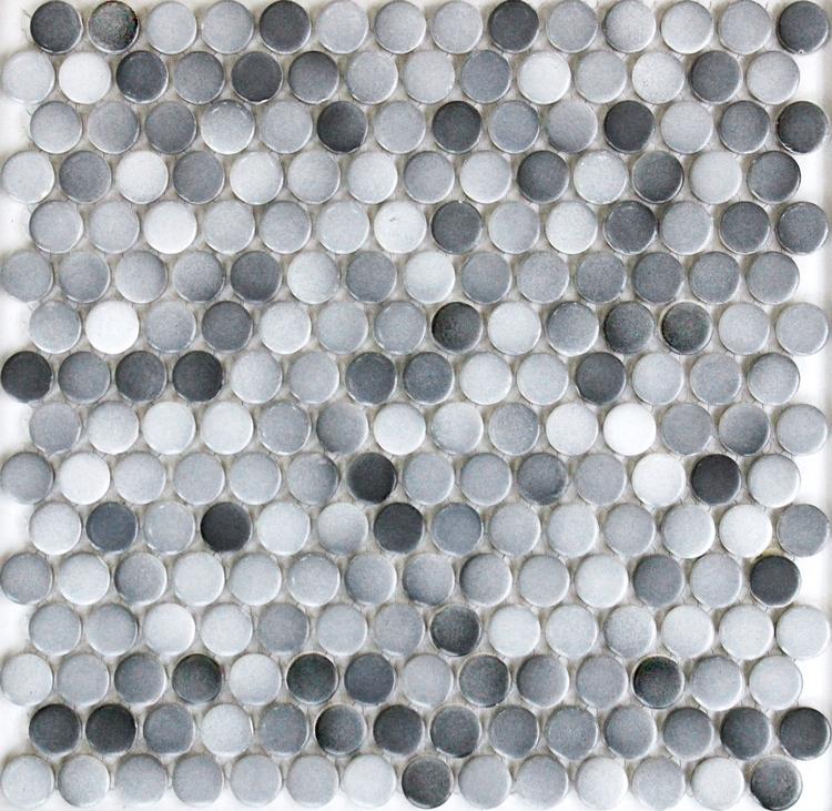 de color gris mm ronda matt bao ducha suelo de mosaico de cermica de pared azulejos