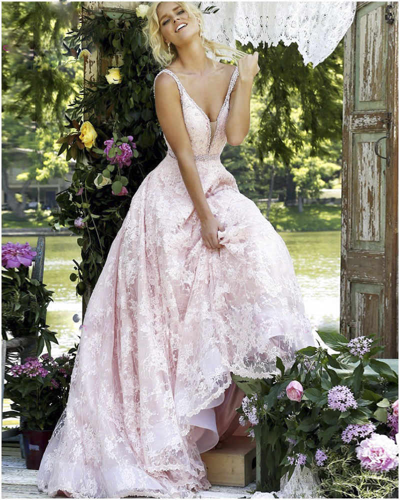 Popular Beautiful Pink Prom Dress-Buy Cheap Beautiful Pink Prom ...