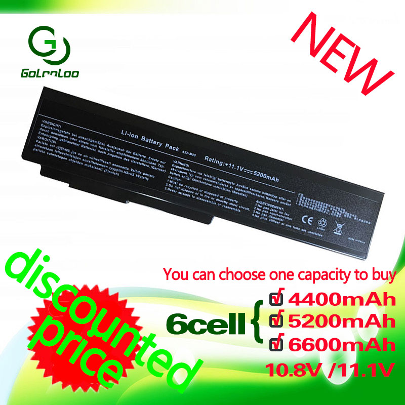 Golooloo Batterie pour ASUS N61D N61VG N61J N61JA N61JQ N61JV N61VF N61V N61VN N61W N6DA X55 X55S X55SA X55SR X55SV x57 X57Q