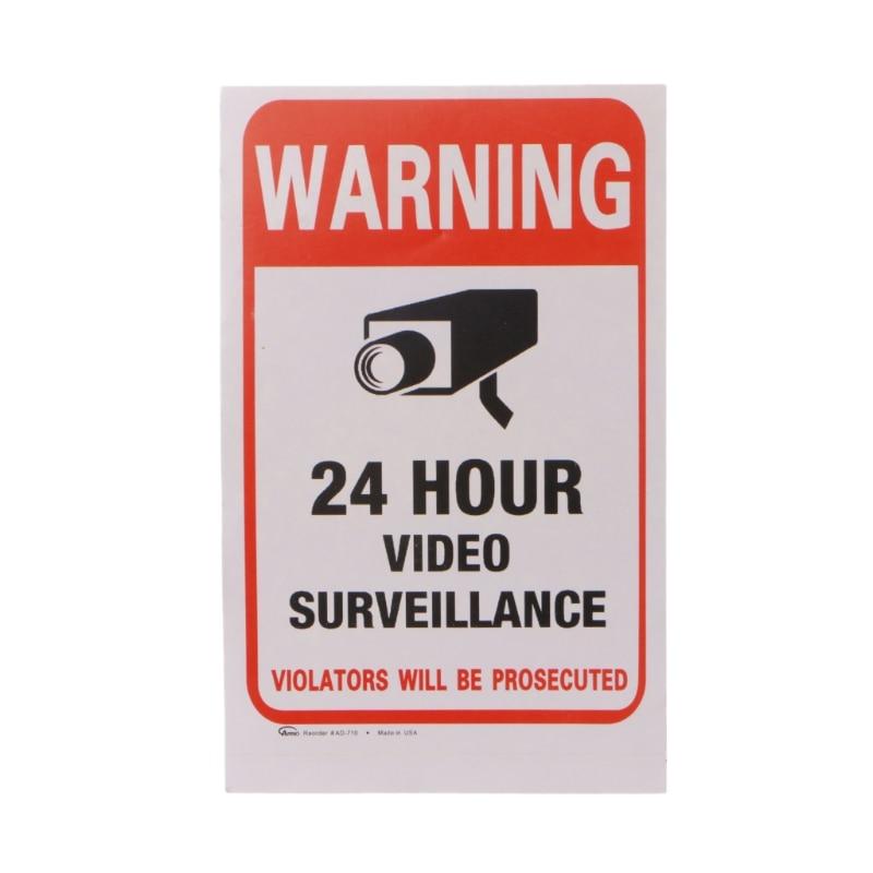 10pcs/lot Waterproof PVC CCTV Video Surveillance Security Sticker Warning Signs