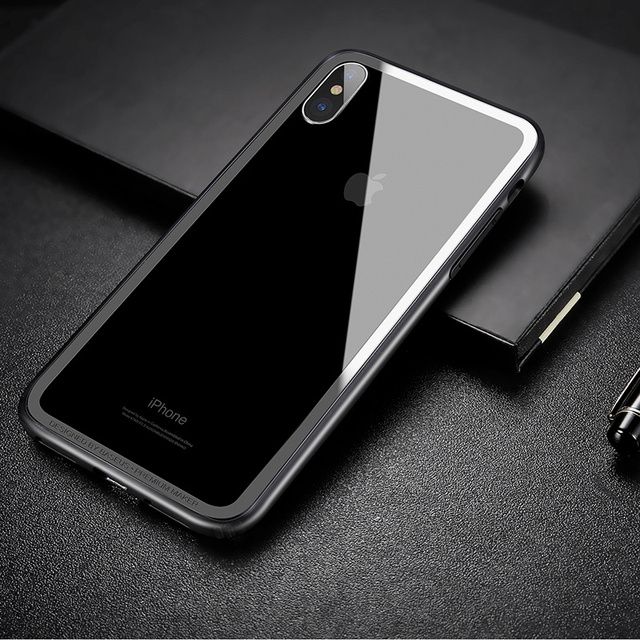 Baseus iPhone X Shockproof Protective Metal Bumper Case Cover