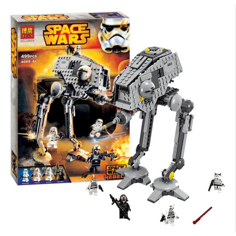 AT DP Star Wars Model building kits compatible with lego city 3D blocks Educational model font