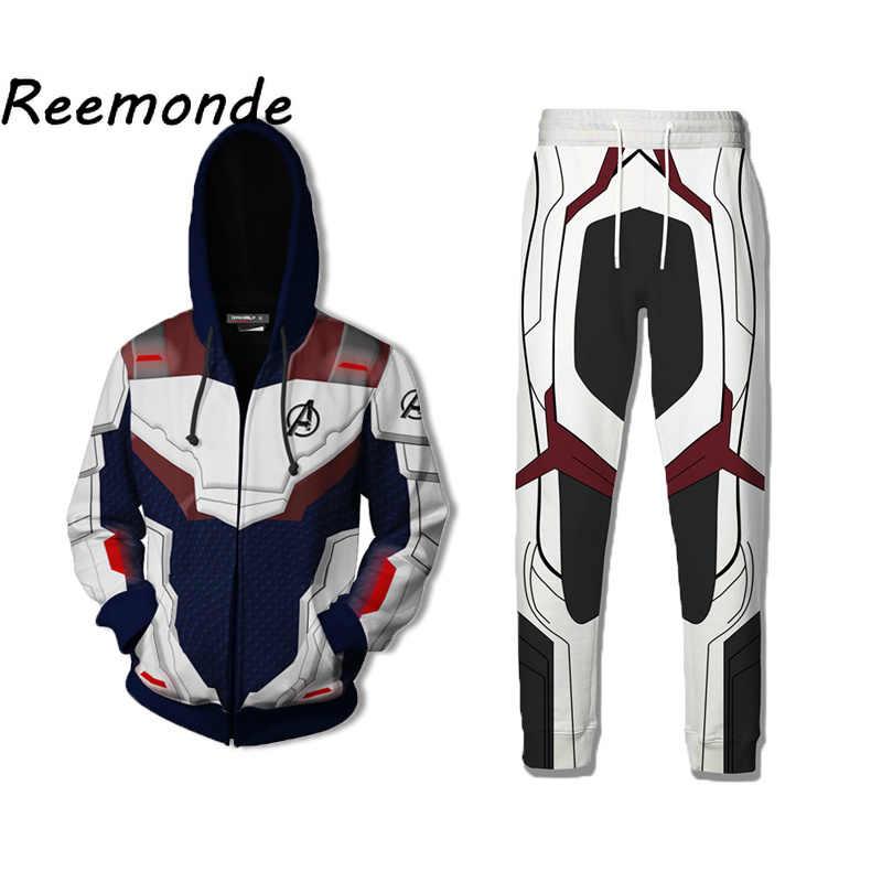 メンズジャケット 2019 量子領域スーパーヒーローパーカーコスプレトラックスーツジョガーパンツトレーナー衣装スウェットパンツ男性服 5xl
