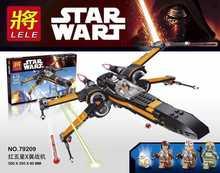 LELE 79209 Star Wars X-wing Starfighter Aircraft Minifigures Building Block Minifigure Toys Compatible Legoe