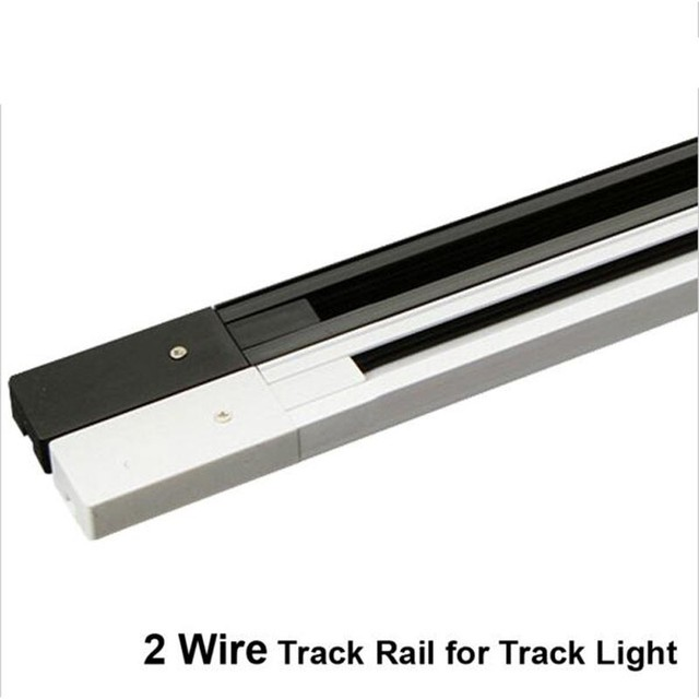 fanlive 20pcs lot 2 wire track rail 2m led track light rail track