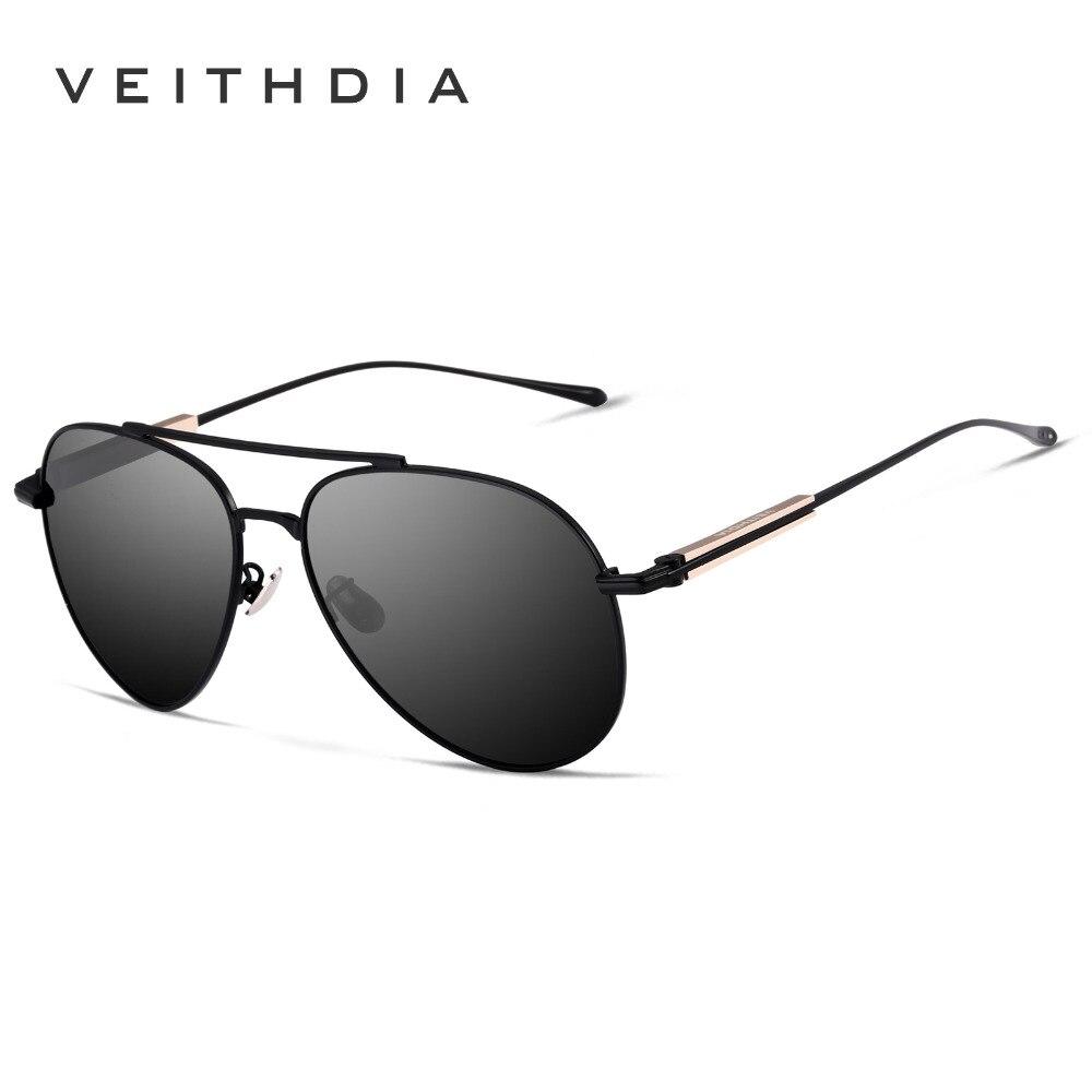 VEITHDIA Vintage Brand Designer Sun Glasses Male Pilot Polarized UV400 Sunglasses For Men/Women gafas oculos de sol VT6696