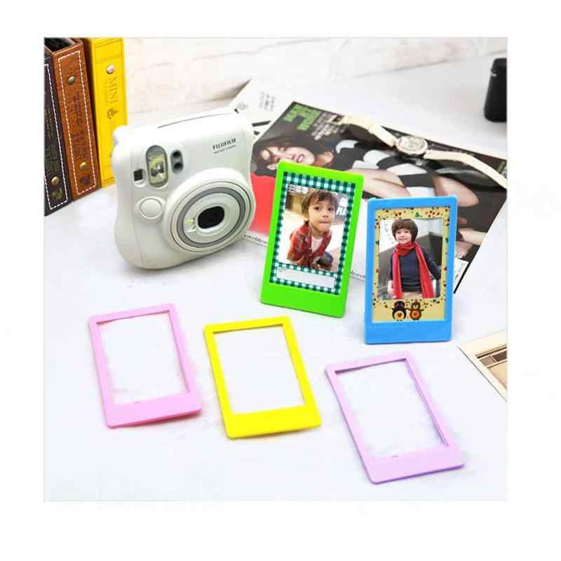 """Bộ 5 3 """"Bàn Nhựa Khung Ảnh Cho Máy Ảnh Fujifilm Instax Mini 9 8 8 + 7 S 70 25 50 S 90 SP1 SP2 Phim Polariod 300 Mini Bộ Phim"""
