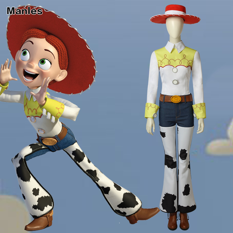 Toy Story Cosplay the Yodeling Cowgirl Jessie Costume Suit Hat Carnival Outfit Adult Halloween Custom Made Superhero With Boots