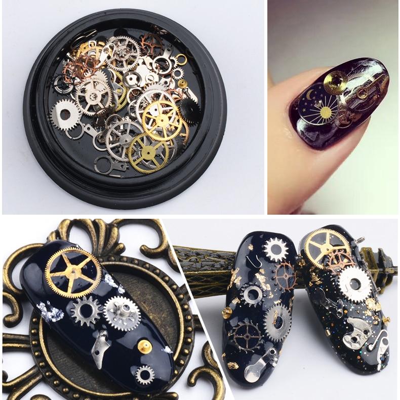 1 Box Steampunk Nail Decorations Ultra T