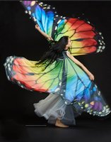 Wings For Oriental Dances Colorful Orange Adult Children Led Wings For Belly Dancing