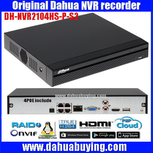 Dahua english 6MP poe NVR DH-NVR2104HS-P-S2 / DH-NVR2108HS-8P-S2 up to 6Mp Recording Onvif Network video recorder ONVIF poe port 16ch poe nvr 1080p 1 5u onvif poe network 16poe port recording hdmi vga p2p pc