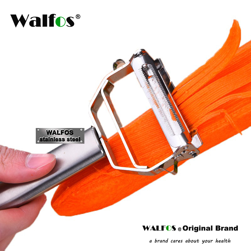 WALFOS 304 Stainless Steel Multi Purpose Peeler Julienne Cutter Julienne Cutter Potato Peeler Carrot Kitchen Grater Tool in Peelers Zesters from Home Garden