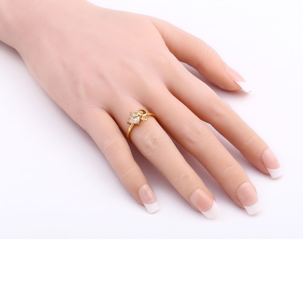 lingmei Female Unique Hollow Mickey Head Jewelry Rings Party Dating ...
