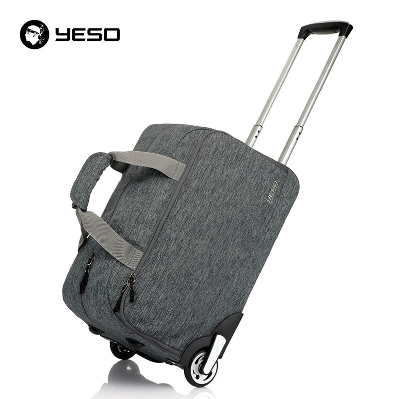 fe0c8a55adb9 YESO Trolley Travel Bag Hand Luggage 20 inch 32L Rolling Duffle Bags  Waterproof Oxford Suitcase Wheels Carry On Luggage Unisex