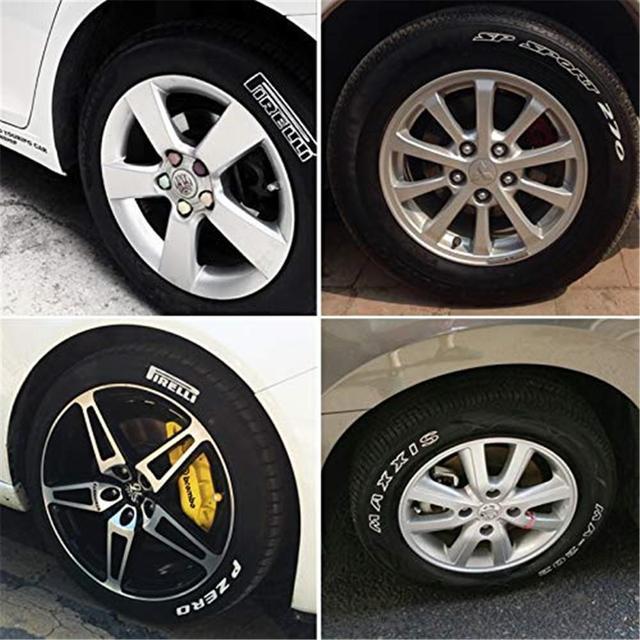Stylos marqueurs de peinture pour pneus   Blanc, étanche, stylo Permanent adapté pour voiture moto pneu, bande de roulement en caoutchouc métal 1 pièce