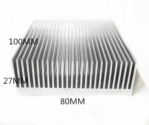 1 Piece Aluminum Heatsink 80*27-100MM IC Heatsink/LED Heatsink/Cooling Radiator