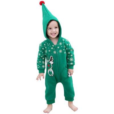 Для новорожденных Рождество зимняя обувь для мужчин и женщин с длинными рукавами толстый теплый с капюшоном Брюки даже цельный Штаны детск...