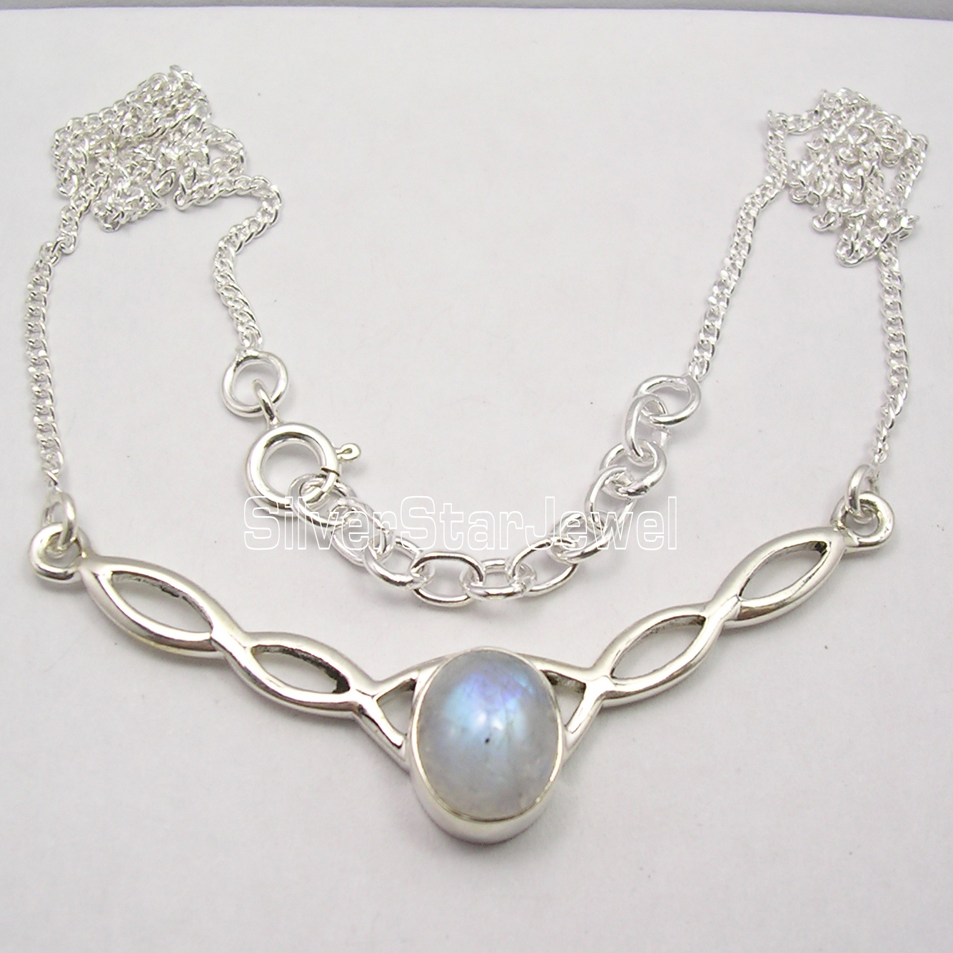 Chanti International Pure Silver Beautiful RAINBOW MOONSTONE WELL MADE Necklace COMBINED SHIPPING петух kelly s cross алюминий 6061 2012 derailleur hanger cross aluminum 6061 alloy 2012