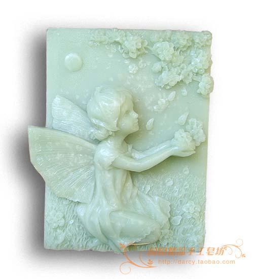 The Flower Child Lunlun Angel Silikonová mýdlová forma Ručně vyráběná 3d silikonová forma DIY Řemeslné formy S113