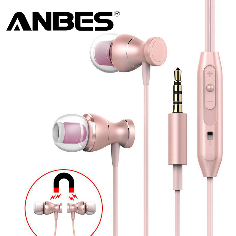 In-Ear Earphone Headset In-line Control Magnetic Clarity Stereo Sound With Mic Earphones for iPhone Mobile Phone MP3 MP4 yl in ear earphones w mic line control for samsung galaxy n7100 note 3 n9000 pink 112cm