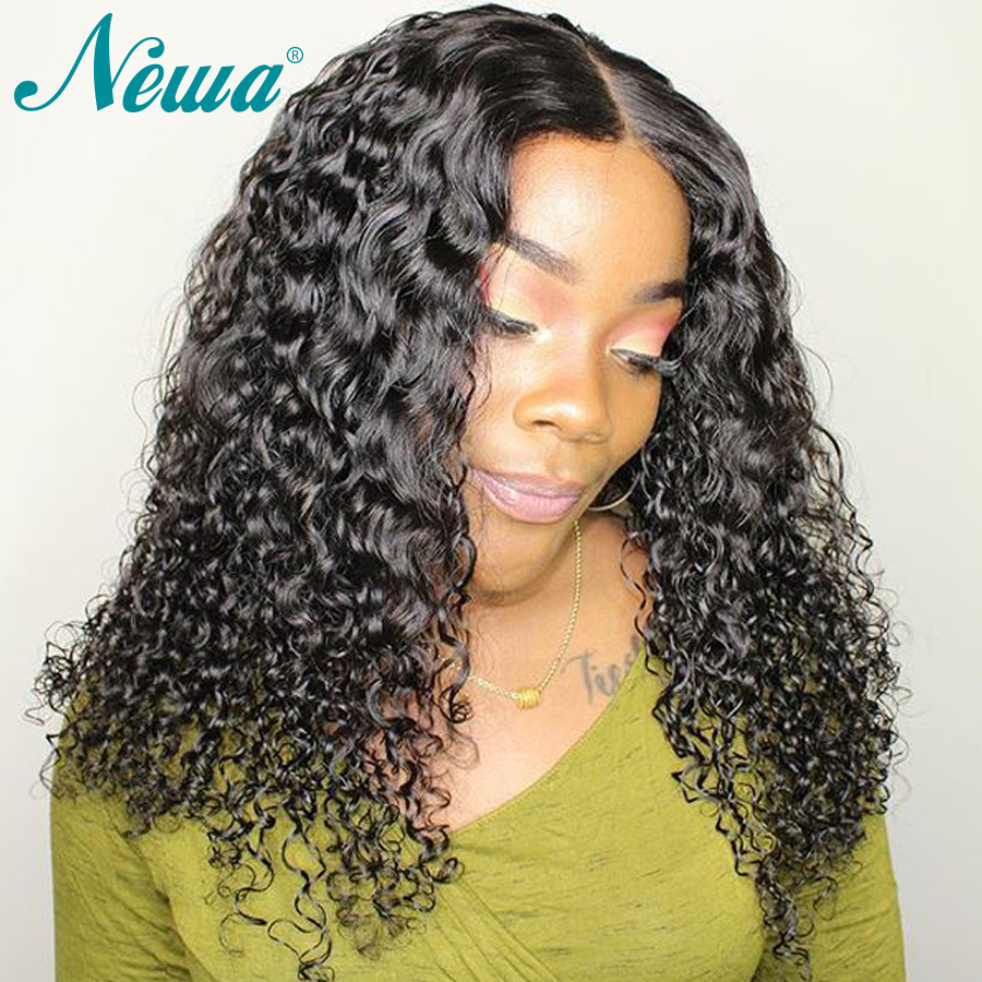 NYUWA Brazilian Lace Front Human Hair Wigs Pre Plucked Remy Hair Lace Wigs For Black Woman